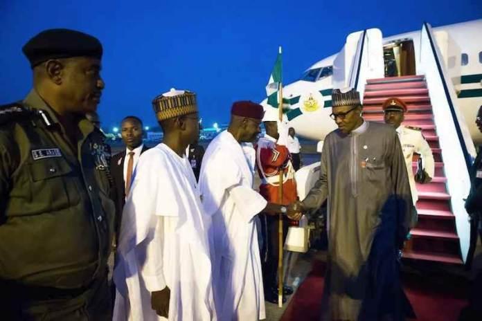 BREAKING: Buhari returns to Nigeria