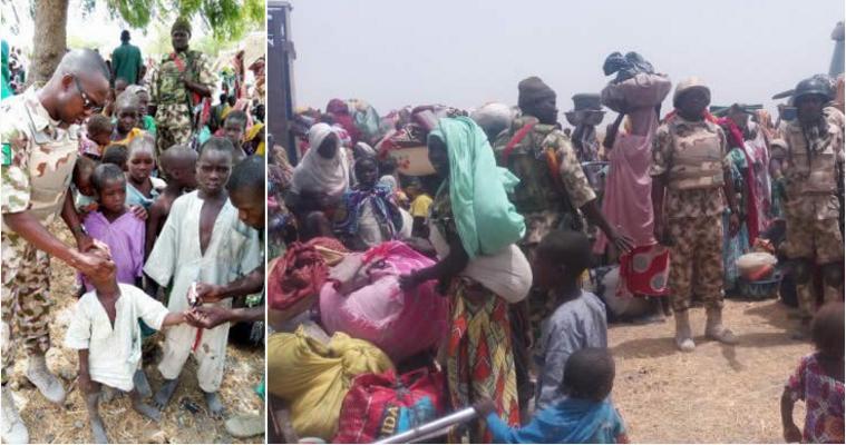 Troops kill 21 B'Haram insurgents, rescue 1,623 captives in Borno
